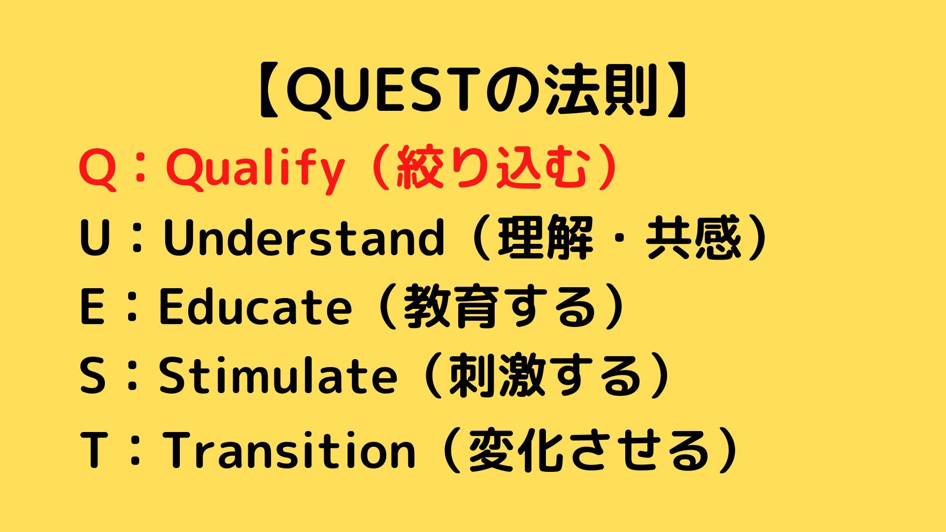 QUESTの法則 QUESTフォーミュラ 2