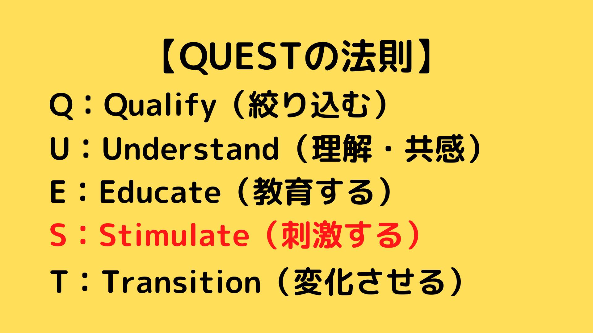 QUESTの法則 QUESTフォーミュラ 5