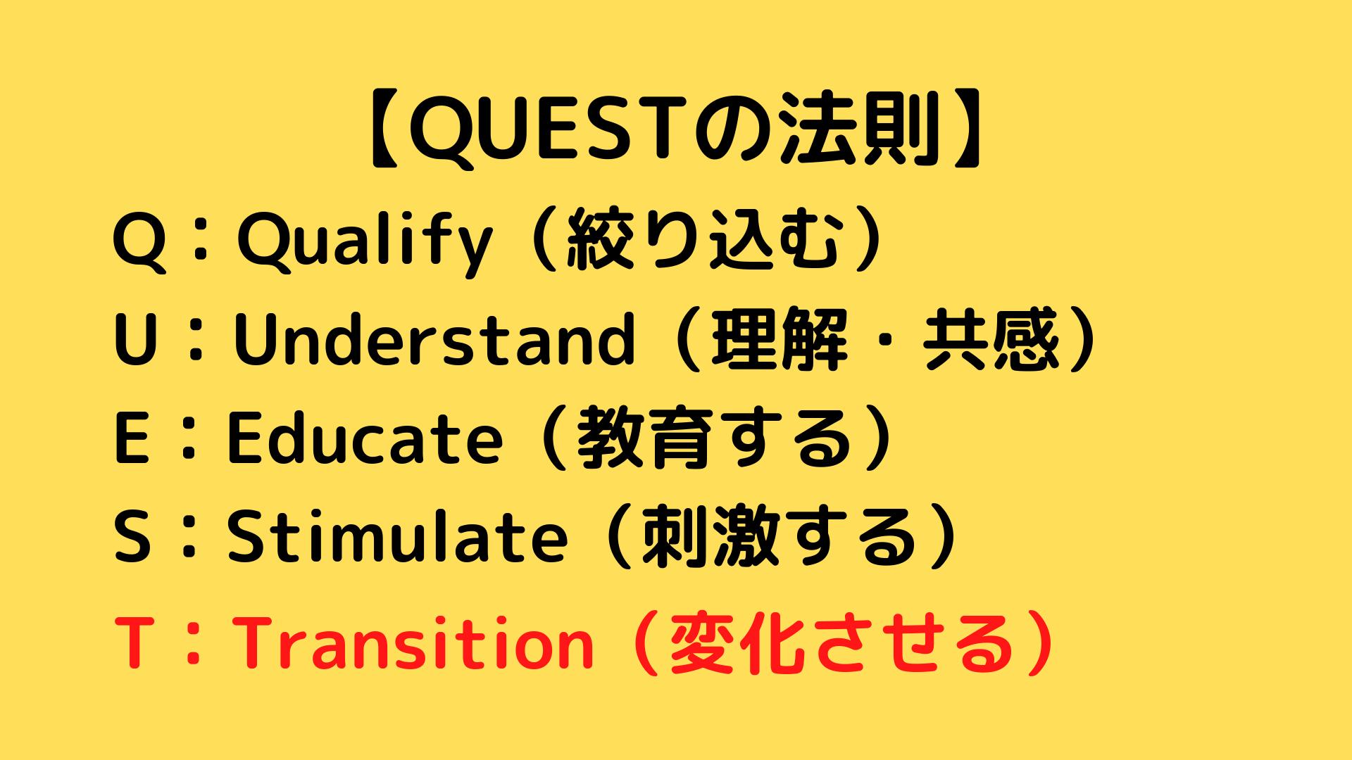 QUESTの法則 QUESTフォーミュラ 6
